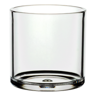 "Plastic Cylinder Vase 4""x 4"" Clear  (12 Per Case)"