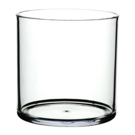 "Plastic Cylinder Vase 6""x 6"" Clear (4 Per Case)"