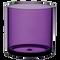 "All Floral Plastic Cylinder 5"" Purple"