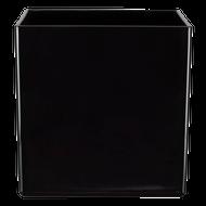 "All Floral Plastic Cube 7"" Black"