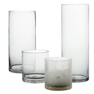 "Glass Cylinder 3 ½"" Diameter- Multiple height options available"