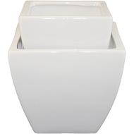 """Ceramic Pot Vase 5""""x2""""x5"""" & 6""""x4""""x6"""" White"""