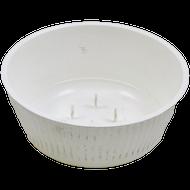 """Viz Floral Plastic Floral Bowl 6"""" White"""