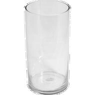 """Plastic Floral Cylinder Vase 7"""" Clear"""