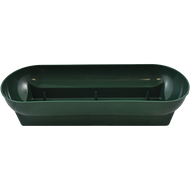 "Plastic Floral Double Utility Bowl 14""x10-3/4""x7-1/4"" Green"