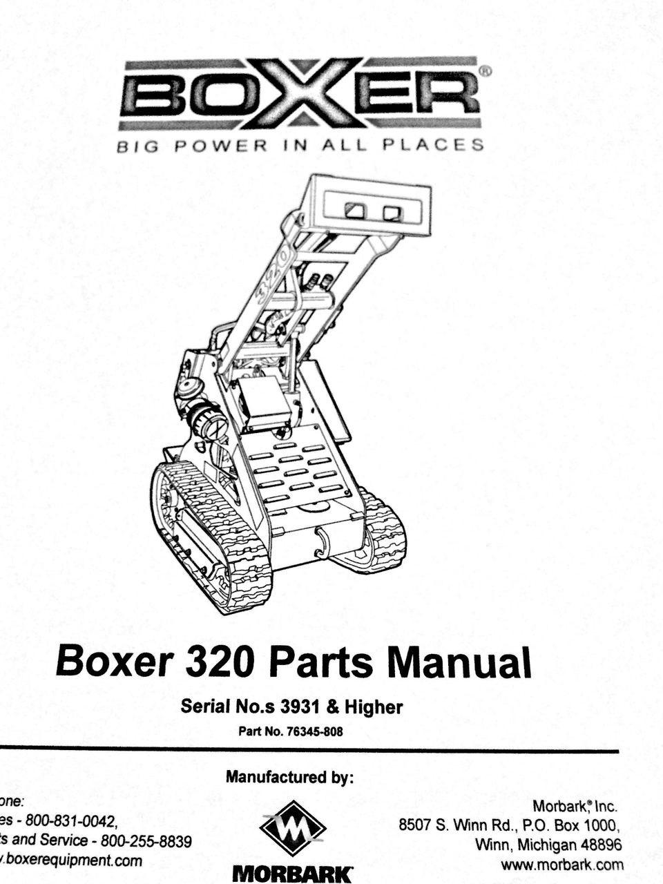 Boxer 320 Parts Manual