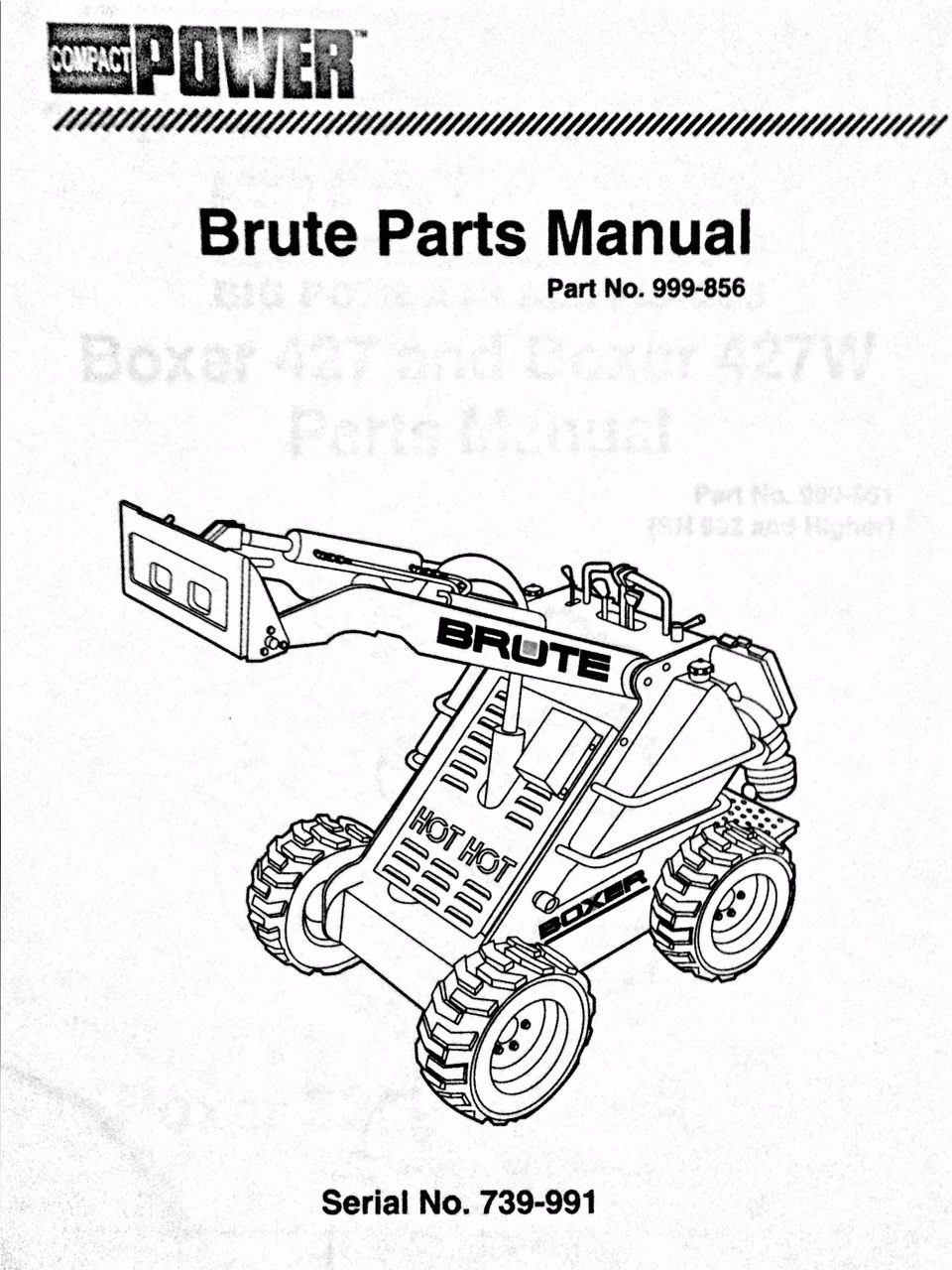 Boxer 427 Brute Parts Manual