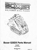 Boxer 525DX Parts Manual