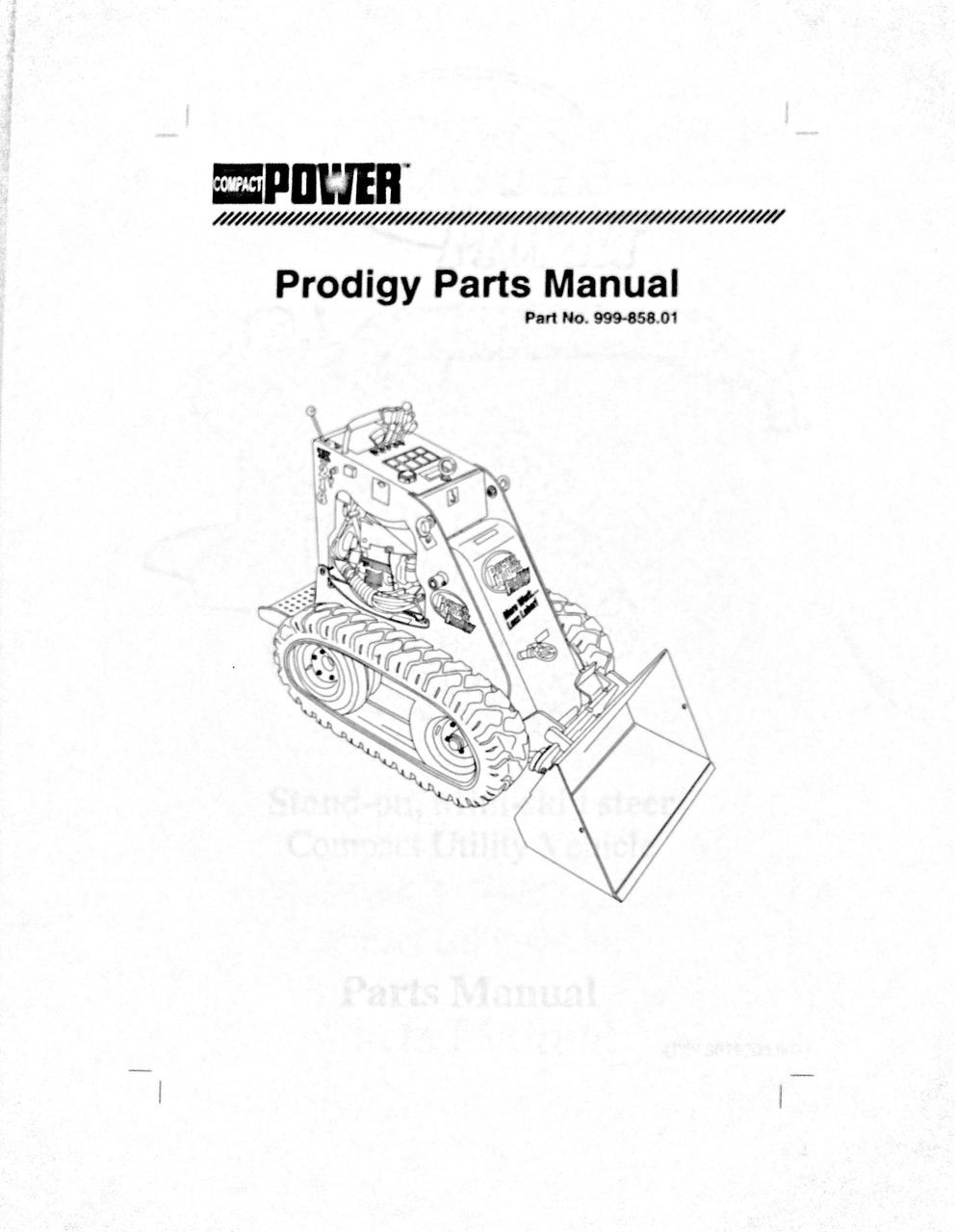 Compact Power Prodigy Parts Manual TK216
