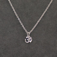 Sterling Om symbol on stainless steel chain 18""