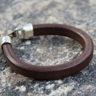 Leather Band Bracelet, Plain Brown