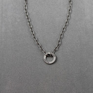 Music Message Ring on Steel Chain Necklace