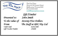 $ 75 Gift Voucher from The Pen Place