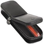 Visconti Double Italian Leather Zip Around Pen Pouch