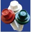 Green, Redwood, White Painted Hex Washer Head Self Drilling Screw