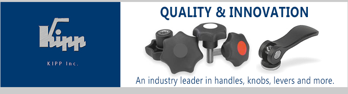 Kipp handles, knobs, levers and machining components from AFT Fasteners.
