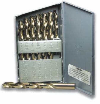 Norseman 79930 | 26 Piece Cobalt TiN-Coated Cutting Tool Set