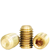 "#8-32x3/16"" Socket Set Screws Cup Point Coarse Brass (2,500/Bulk Pkg.)"