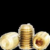 "#10-24x1/4"" Socket Set Screws Cup Point Coarse Brass (2,500/Bulk Pkg.)"