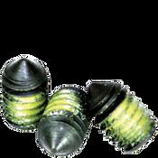 "#10-24x3/8"" Socket Set Screws Cone Point Coarse Alloy w/ Nylon-Patch Thermal Black Ox (1,000/Bulk Pkg.)"