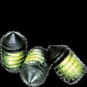 "3/8""-16x3/8"" Socket Set Screws Cone Point Coarse Alloy w/ Nylon-Patch Thermal Black Ox (1,000/Bulk Pkg.)"