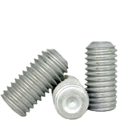 """#4-40x3/16"""" Socket Set Screws Cup Point Coarse Alloy Mechanical Zinc (1,000/Bulk Pkg.)"""