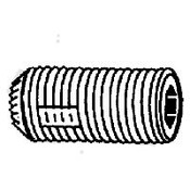 "#6-32x3/8"" Knurled Cup Point Loc-Wel Socket Set Screw Plain (100/Pkg.)"