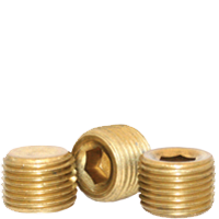 "Image of 1/16""-27 Pipe Plugs Brass Dry-Seal 3/4"" Taper  (USA) (100/Pkg.)"