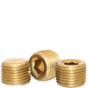 "Image of 1/8""-27 Pipe Plugs Brass Dry-Seal 3/4"" Taper  (USA) (100/Pkg.)"