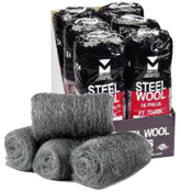 Steel Wool Hand Pads - Extra Fine - Mercer Abrasives 283EXTFIN (6 Sleeves/96 Pads)
