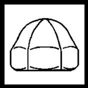 #6-32 Acorn Nut, Stainless Steel 304, UNC, 1 Piece (5000/Bulk Pkg.)