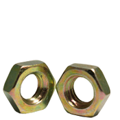"""3/4""""-16 Hex Jam Nut, Fine, Low Carbon Steel  Zinc-Yellow (600/Bulk Pkg.)"""