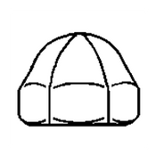 #8-32 Acorn Nut, Stainless Steel 304, UNC, 1 Piece (4000/Bulk Pkg.)