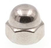 "1/2""-13 Acorn Nut, Stainless Steel 304, UNC, 1 Piece (500/Bulk Pkg.)"