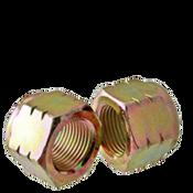 "3/8""-24 Nylon-Insert Locknut, Grade C, Zinc-Yellow (2500/Bulk Pkg.)"