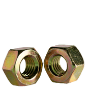 "1/2""-13 Heavy Hex Nut, A563 Grade A, Coarse, Zinc-Yellow (700/Bulk Pkg.)"