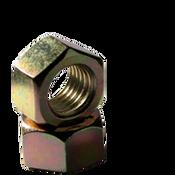 "1/4""-28 Finished Hex Nut, Grade 2, Fine, Low Carbon Steel, Zinc-Yellow (9000/Bulk Pkg.)"