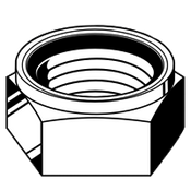 M6-1.00 DIN 985 Nylon-Insert Locknut, Coarse, A2-70 (100/Pkg.)