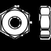 """3/8""""-16 Heavy Hex Jam (Thin) Nut A563 Grade A Plain (3100/Bulk Pkg.)"""
