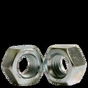 "1/4""-28 Finished Hex Nut, Grade 5, Fine Medium Carbon Steel, Zinc Cr+3 (5000/Bulk Pkg.)"