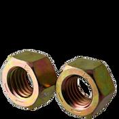 "1 1/8""-7 Finished Hex Nuts, Grade 8, Coarse, Medium Carbon Steel, Zinc-Yellow Cr6 (75/Bulk Pkg.)"