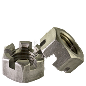 "1/4""-28 Slotted Finished Hex Nuts Plain (100/Pkg.)"