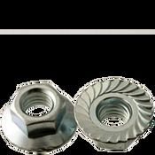 #8-32 Hex Flange Nuts Serrated Coarse Case Hardened Zinc Cr+3 (5000/Bulk Pkg.)