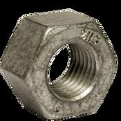 "1 1/8""-7 Heavy Hex Nut, A194/SA194 2H, Hot Dip Galvanized/Wax/Blue Dye (70/Bulk Pkg.)"