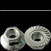 #10-24 Hex Flange Nuts Serrated Coarse Case Hardened Zinc Cr+3 (5000/Bulk Pkg.)