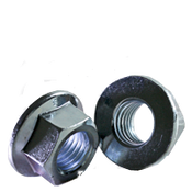 M12-1.75 Class 8 Hex Flange Nut, Coarse, Zinc Cr+3, DIN 6923/ISO 4161 (600/Bulk Pkg.)