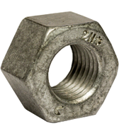 "2""-4 1/2 Heavy Hex Nut, A194/SA194 2H, Hot Dip Galvanized/Wax/Blue Dye (15/Bulk Pkg.)"