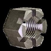 "7/8""-9 Slotted Heavy Hex Nuts Coarse Plain (100/Bulk Pkg.)"