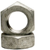 "1 1/8""-7 Hex Jam Nut, Coarse, Low Carbon Steel, Hot Dip Galvanized (200/Bulk Pkg.)"