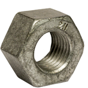 "1 1/8""-7 Heavy Hex Nut, A194/SA194 2H, Hot Dip Galvanized/Wax (USA) (350/Bulk Pkg.)"